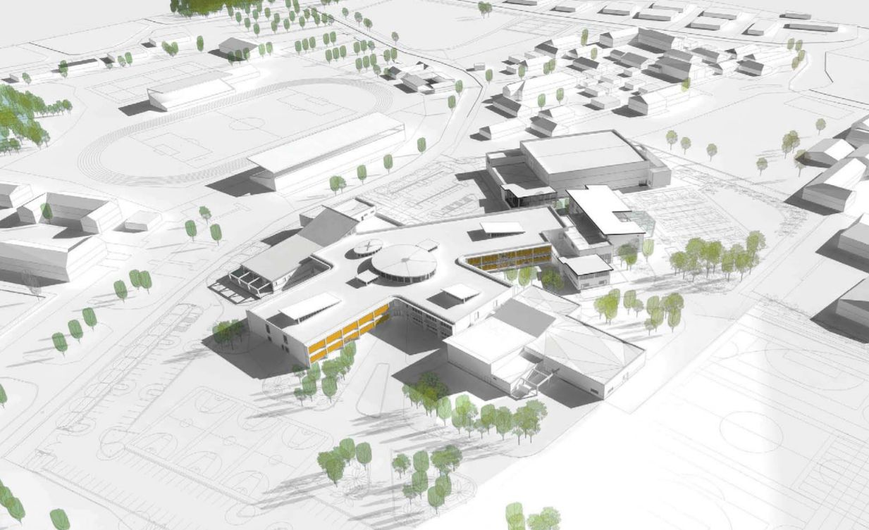 New JGHS Campus and Sports Field – View from Walkers Road